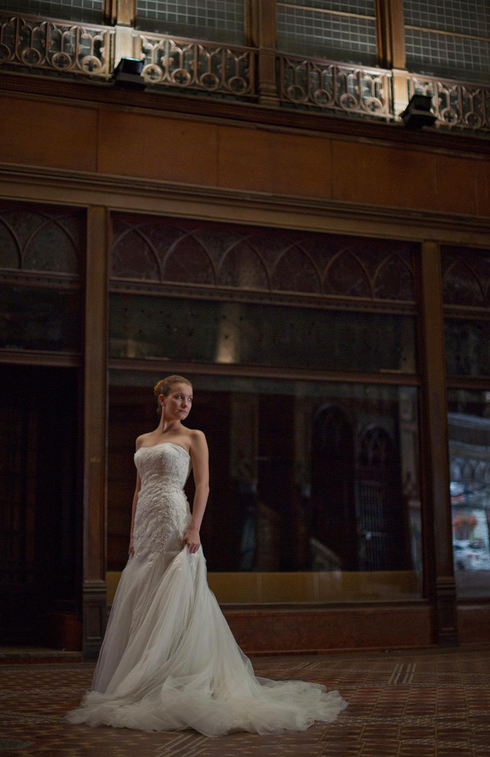 Női portréfotózás - Gabi esküvői portré